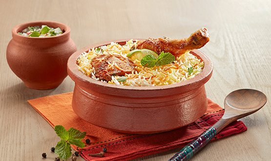 Claypot Hyderabadi Chicken biryani