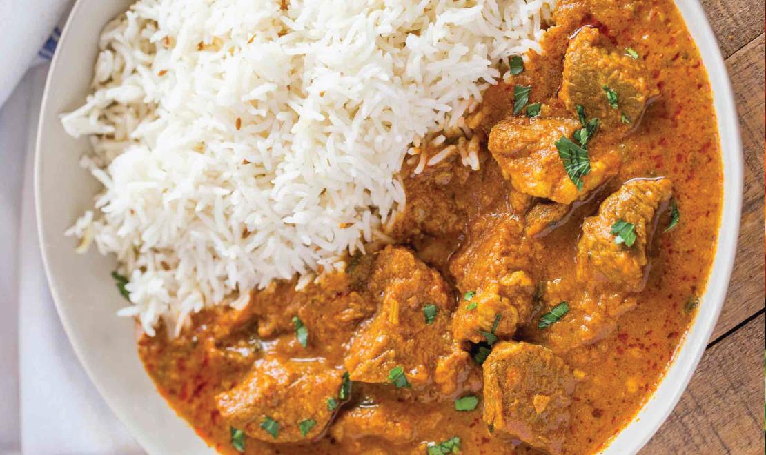 Ghee Rice+Chicken Korma+Salad