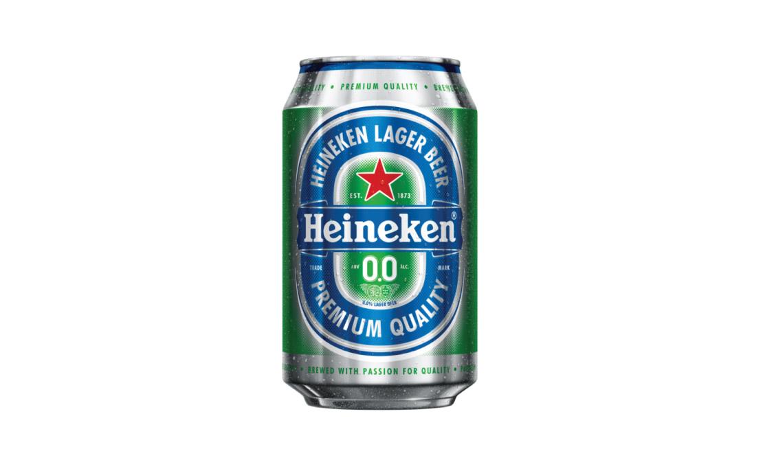 Heineken premium Lager beer 0.0 can