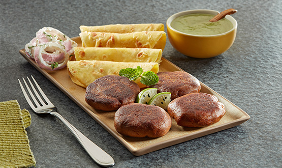 Galouti kebab with ulta tava paratha 4pc