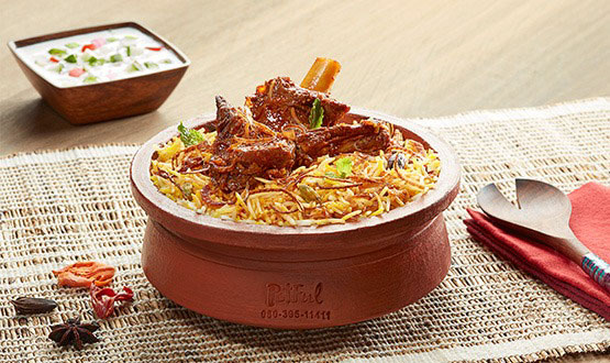 Claypot Hyderabadi Mutton Biryani