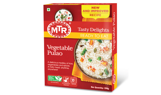 MTR Ready to Eat Vegetable Pulao 250 g