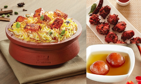 Claypot Hyderabadi Boneless Chicken Biryani+Chicken 65 + Gulab Jamun 2Pc(2 People)