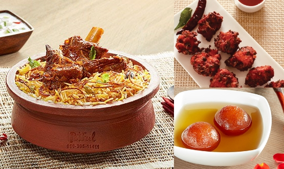 Claypot Hyderabadi Mutton Biryani + Chicken 65 + Gulab Jamun 2Pc(2 People)