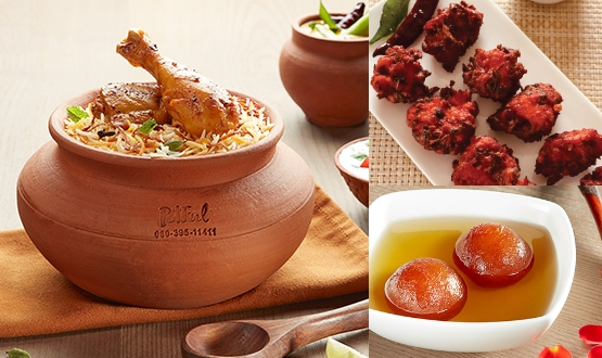 Claypot Lucknowi Chicken Biryani + Chicken 65 + Gulab Jamun 2Pc(2 People)