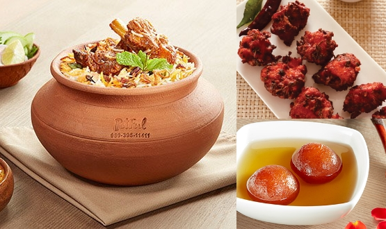 Claypot Lucknowi Mutton Biryani + Chicken 65 + Gulab Jamun 2Pc(2 People)