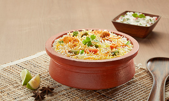 Claypot Hyderabadi mix veg biryani