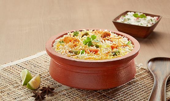 Claypot Lucknowi Mix veg biryani