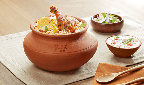 Claypot Calcutta Chicken biryani