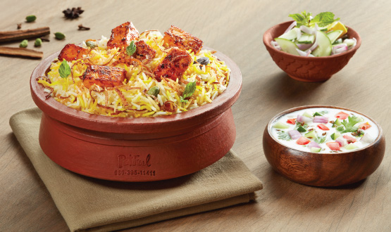 Claypot Hyderabadi Boneless Chicken Biryani