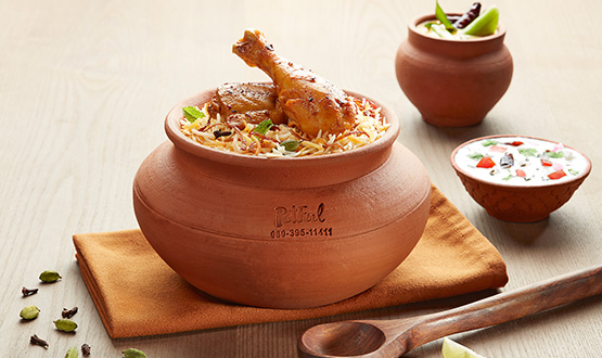 Claypot Lucknowi Chicken biryani